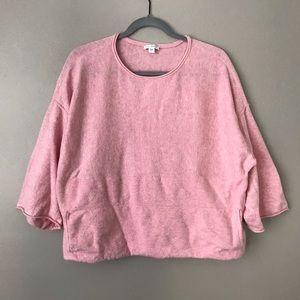 J. Jill Pure Light Pink Knit kimono sleeve sweater